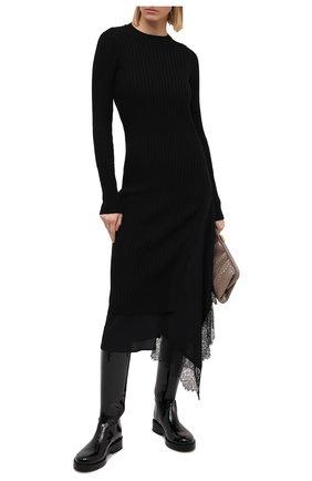 Женское шерстяное платье N21 черного цвета, арт. 20I N2M0/AH01/7030 | Фото 2