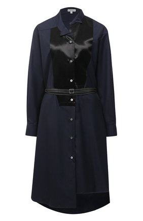 Женское шерстяное платье LOEWE темно-синего цвета, арт. S359335XCX | Фото 1