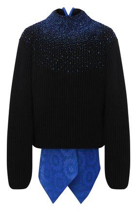 Женский шерстяной свитер LOEWE черного цвета, арт. S540Y14K03 | Фото 1