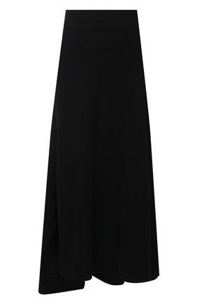 Женская шерстяная юбка YOHJI YAMAMOTO черного цвета, арт. NR-S01-106   Фото 1