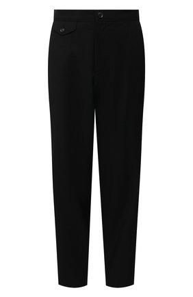 Женские шерстяные брюки YOHJI YAMAMOTO черного цвета, арт. NR-P02-100 | Фото 1