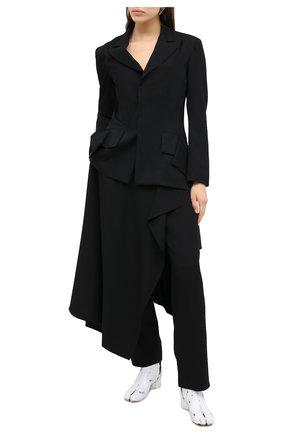 Женский шерстяной жакет YOHJI YAMAMOTO черного цвета, арт. NR-J07-100 | Фото 2