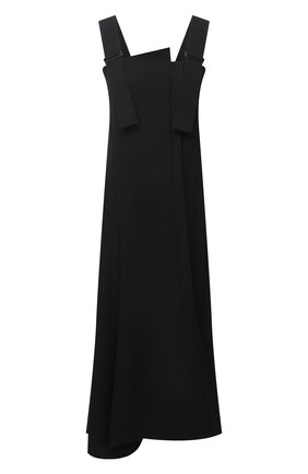 Женское шерстяное платье YOHJI YAMAMOTO черного цвета, арт. NR-D07-100 | Фото 1