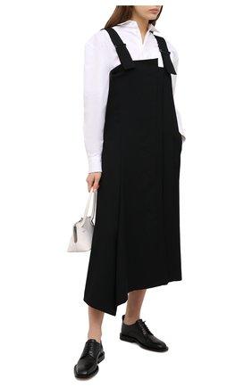 Женское шерстяное платье YOHJI YAMAMOTO черного цвета, арт. NR-D07-100   Фото 2