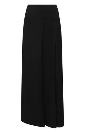 Женская шерстяная юбка YOHJI YAMAMOTO черного цвета, арт. FR-S01-803   Фото 1