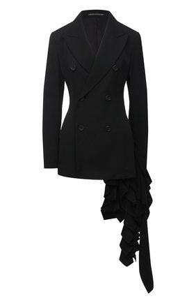 Женский шерстяной жакет YOHJI YAMAMOTO черного цвета, арт. FR-J01-803   Фото 1
