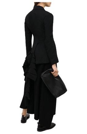Женский шерстяной жакет YOHJI YAMAMOTO черного цвета, арт. FR-J01-803   Фото 2