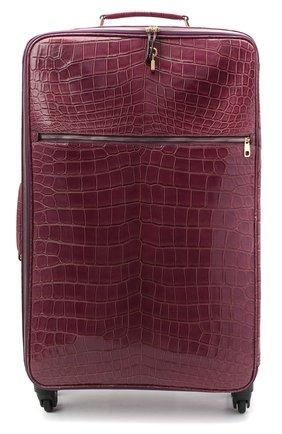 Женский чемодан sicily из кожи крокодила DOLCE & GABBANA фиолетового цвета, арт. BB5835/A2F64 | Фото 1