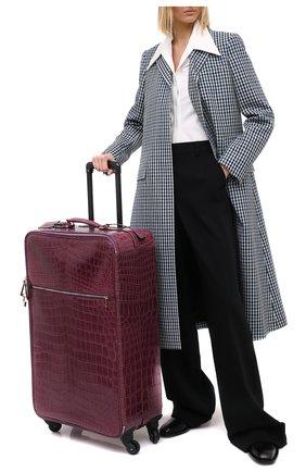 Женский чемодан sicily из кожи крокодила DOLCE & GABBANA фиолетового цвета, арт. BB5835/A2F64 | Фото 2