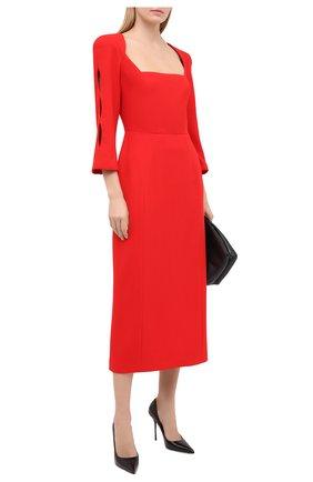 Женское шерстяное платье ULYANA SERGEENKO красного цвета, арт. ABM007FW20P (1458т20) | Фото 2