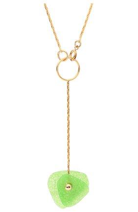 Женское колье CRYSTALLINE JEWELLERY зеленого цвета, арт. 508XC | Фото 2