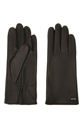 Женские кожаные перчатки BOSS черного цвета, арт. 50437288 | Фото 2