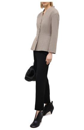Женский шерстяной жакет ULYANA SERGEENKO бежевого цвета, арт. GCC017SK17A (0414з17) | Фото 2