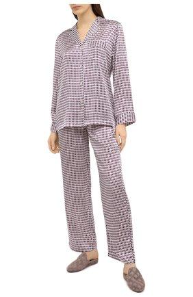 Женская пижама LUNA DI SETA бордового цвета, арт. VLST60689 | Фото 1