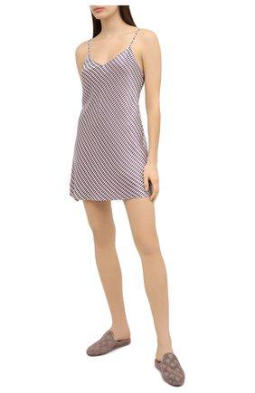 Женская сорочка LUNA DI SETA бордового цвета, арт. VLST60688 | Фото 2