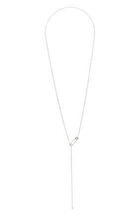Женское колье J-POINT белого цвета, арт. ИПГ857.48.141020.16W   Фото 1