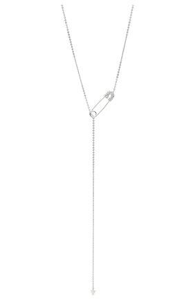 Женское колье J-POINT белого цвета, арт. ИПГ857.48.141020.16W   Фото 2