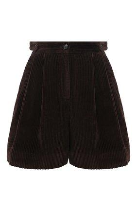 Женские хлопковые шорты DOLCE & GABBANA темно-коричневого цвета, арт. FTBWPT/FUWC5 | Фото 1