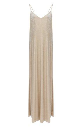 Женское шелковое платье RALPH LAUREN бежевого цвета, арт. 290821352 | Фото 1