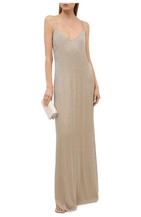 Женское шелковое платье RALPH LAUREN бежевого цвета, арт. 290821352 | Фото 2