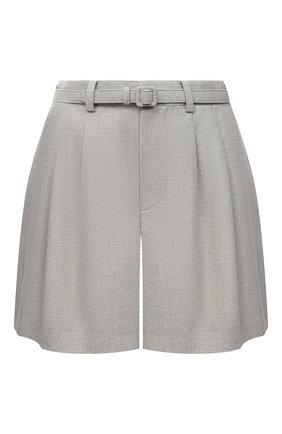 Женские шерстяные шорты RALPH LAUREN серого цвета, арт. 290815957 | Фото 1