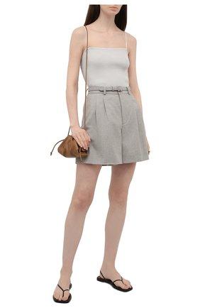 Женские шерстяные шорты RALPH LAUREN серого цвета, арт. 290815957 | Фото 2
