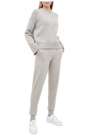 Женские кашемировые брюки RALPH LAUREN серого цвета, арт. 290740490 | Фото 2