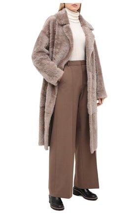 Женская шуба из овчины WINDSOR светло-бежевого цвета, арт. 52 DL414 10010501 | Фото 2