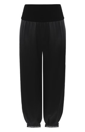 Женские шелковые брюки GIORGIO ARMANI черного цвета, арт. 0WHPP0FU/T001Y | Фото 1