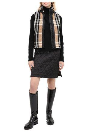 Женский шерстяной жилет BURBERRY разноцветного цвета, арт. 8036152 | Фото 2