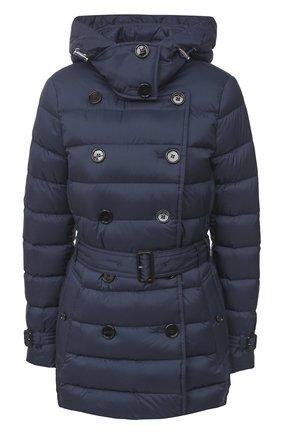 Женский пуховая куртка BURBERRY темно-синего цвета, арт. 8033453 | Фото 1