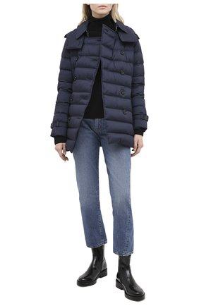 Женский пуховая куртка BURBERRY темно-синего цвета, арт. 8033453 | Фото 2