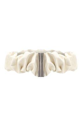 Женский кожаный пояс JIL SANDER кремвого цвета, арт. JSPR800056-WRS01016 | Фото 1 (Кросс-КТ: Широкие)