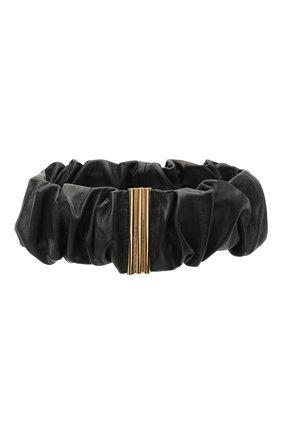 Женский кожаный пояс JIL SANDER черного цвета, арт. JSPR800056-WRS01034   Фото 1