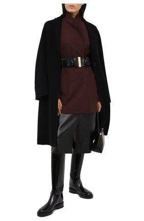 Женский кожаный пояс JIL SANDER черного цвета, арт. JSPR800056-WRS01034   Фото 2