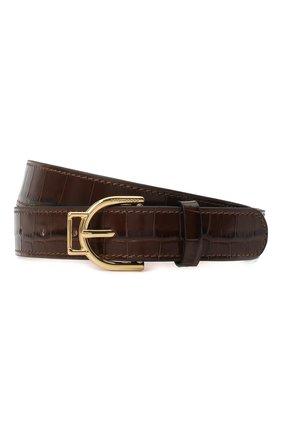 Женский кожаный ремень COCCINELLE коричневого цвета, арт. E3 GZ5 11 36 15   Фото 1