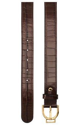Женский кожаный ремень COCCINELLE коричневого цвета, арт. E3 GZ5 11 36 15   Фото 2