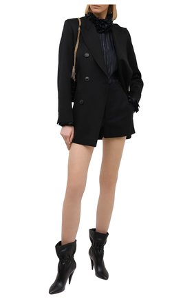Женские кожаные ботильоны SAINT LAURENT черного цвета, арт. 639609/1Y800 | Фото 2