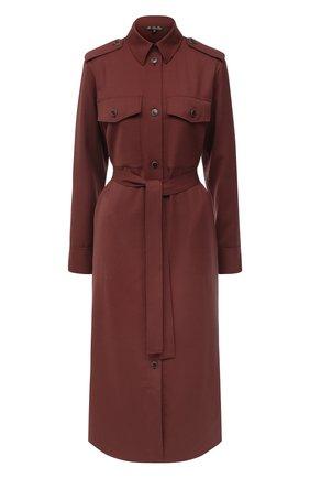 Женское шерстяное платье LORO PIANA бордового цвета, арт. FAL3860 | Фото 1