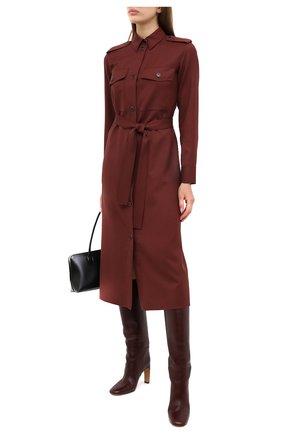 Женское шерстяное платье LORO PIANA бордового цвета, арт. FAL3860 | Фото 2