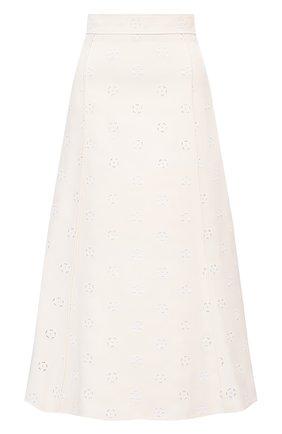 Женская юбка CHLOÉ белого цвета, арт. CHC20WJU10482 | Фото 1