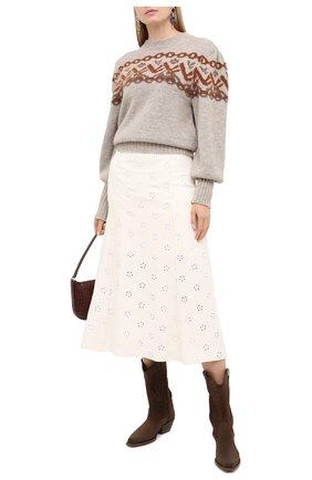 Женская юбка CHLOÉ белого цвета, арт. CHC20WJU10482 | Фото 2
