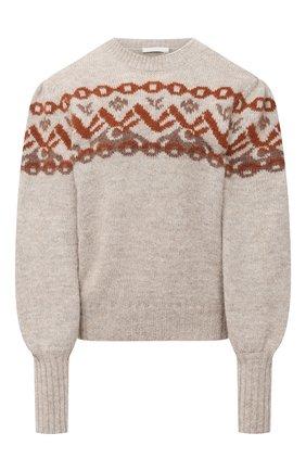 Женский шерстяной свитер CHLOÉ серого цвета, арт. CHC20WMP16570 | Фото 1
