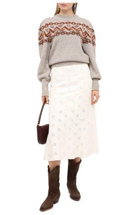 Женский шерстяной свитер CHLOÉ серого цвета, арт. CHC20WMP16570   Фото 2