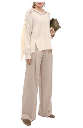 Женский кашемировый свитер CHLOÉ бежевого цвета, арт. CHC20WMP21500   Фото 2