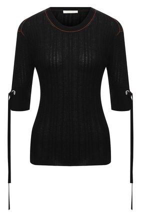 Женский пуловер из шерсти и шелка CHLOÉ черного цвета, арт. CHC20WMP23520   Фото 1