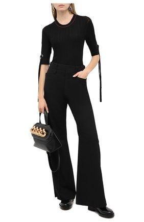 Женский пуловер из шерсти и шелка CHLOÉ черного цвета, арт. CHC20WMP23520   Фото 2