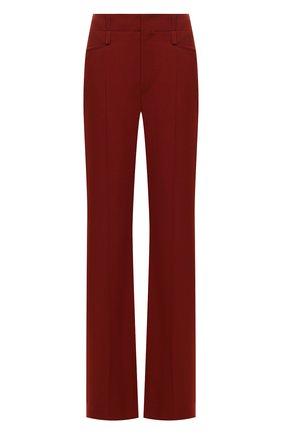 Женские шерстяные брюки CHLOÉ коричневого цвета, арт. CHC20WPA06062   Фото 1