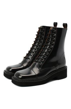 Женские кожаные ботинки MAISON MARGIELA черного цвета, арт. S39WU0199/P3870 | Фото 1