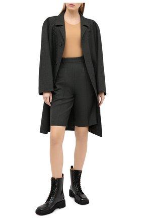 Женские кожаные ботинки MAISON MARGIELA черного цвета, арт. S39WU0199/P3870 | Фото 2